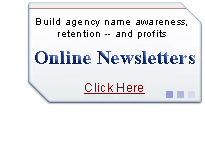 Build agency name awareness - Online Newsletters